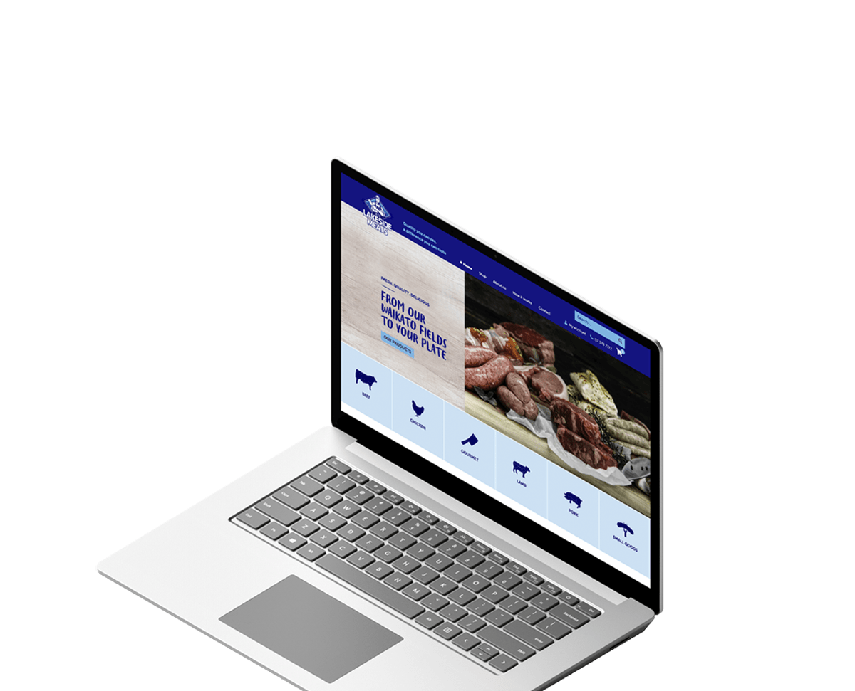 Lakeside Meats Taupo E-commerce Website