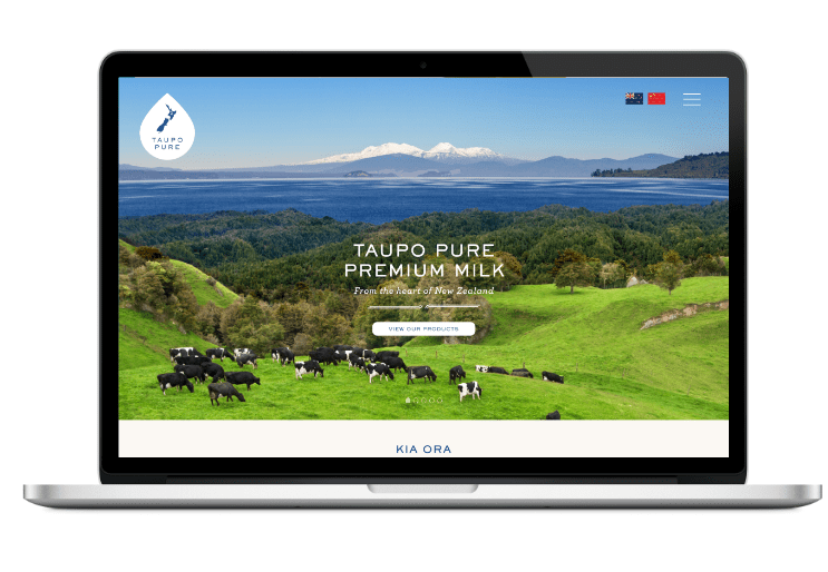 Taupo Pure website on Laptop